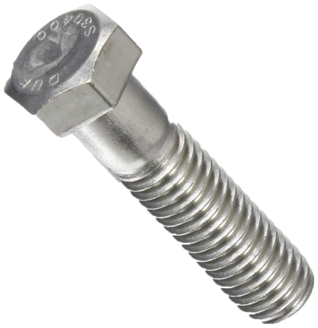 18-8 Stainless Steel Hex Head Screw 1-3//4 Long 7//16-14 Thread Size