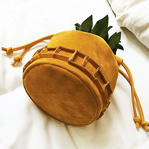 Chic Women Mini Bag Bag Pineapple Shoulder Cellphone Bag body Kea Yellow1 Bag Sun Cross PU Leather Hqp0vwS