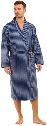 Mens 100/% Cotton Lightweight Poplin Dressing Gown Wrap Robe Size M L XL NEW
