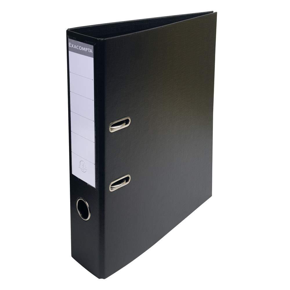 Exacompta 70 mm PVC archivador de palanca, color negro: Amazon.es: Oficina y papelería