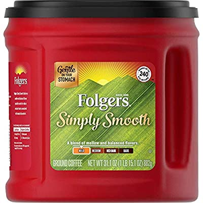 Folgers Simply Smooth Medium Roast Ground Coffee, 31.1 Ounces from Folgers