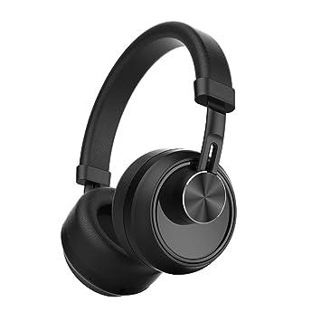 HuiHeng Auriculares Bluetooth inalámbricos plegables con micrófono de cancelación de ruido, auriculares de viaje plegables con ...