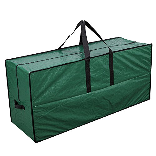 Primode Artificial Xmas Tree Storage Bag with Handles | 65 x 15 x 30 Holiday Tree Storage Case | Protective Zippered Xmas Tree Bag (Green)