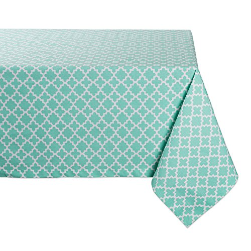 (DII Rectangle Lattice Cotton Tablecloth for Weddings, Picnics, Spring Parties and Everyday Use - 60x84