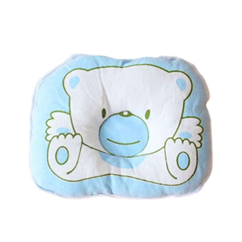 Masterein Cartton Ours Doux b/éb/é Nouveau-n/é b/éb/é Tout-Petit Oreiller en Coton Coussin de Soutien Pad Side Sleeping Anti Rouleau