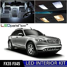 car stereo radio wiring diagram 2004 infiniti fx35 ledpartsnow infiniti fx35 fx45 2003 2008 xenon white premium led interior lights package kit 13 pieces