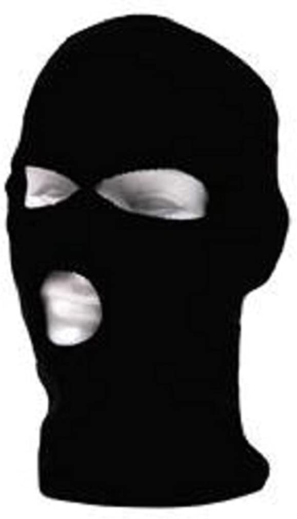 Black Knit 3 Three Hole Balaclava Winter Face Ski Mask
