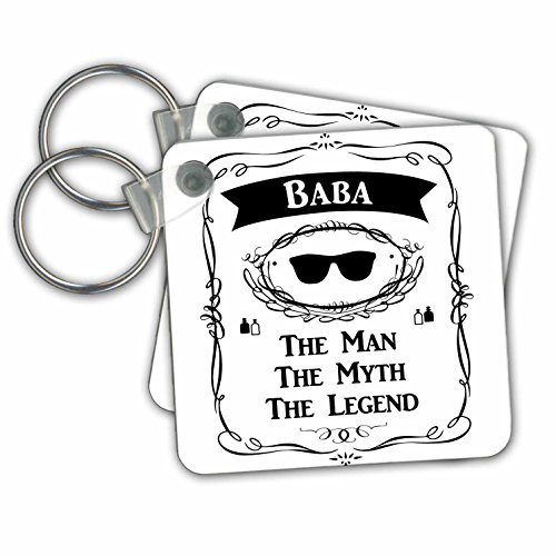 3dRose Baba The Man The Myth The Legend Dad Father In Arabic Chinese Bengali - Key Chains, 2.25