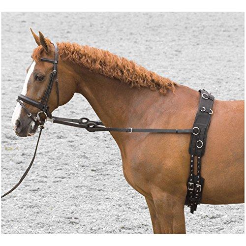 Imperial Riding - Side reins - Ausbindezügel mit Gumming - Schwarz - Cob