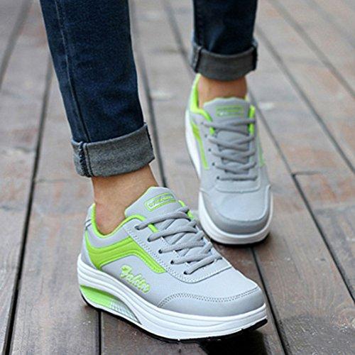 de Deporte de Piel JRenok Verde Mujer Zapatillas Otra tw7ggq