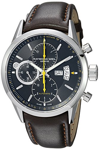 Raymond Weil Men's 'Freelancer' Quartz Stainless Steel Casual Watch, Color Brown (Model: 7730-STC-20021) (Wrist Weil Watch Date Raymond)