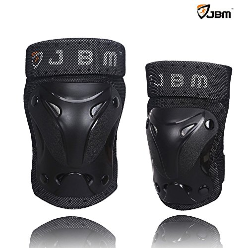 JBM¨ Protective Gear Knee and Elbow Pads Support Guards for Multiple Sports Protection Safety Gear Equipment -