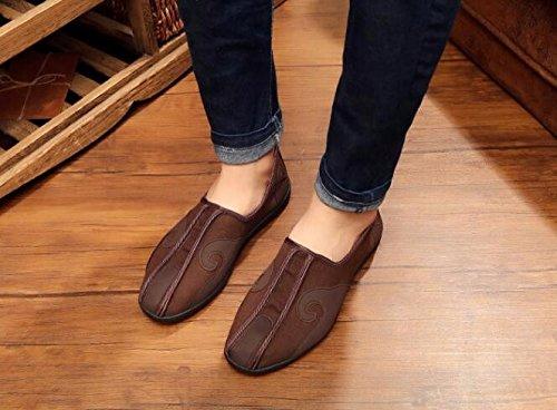 YDA- Die gestickten Schuhe der Frauen KAFEI Man Wolken Tuch Schuhe melaleuca Stock Casual Braun Grau Schwarz, Grau, 40