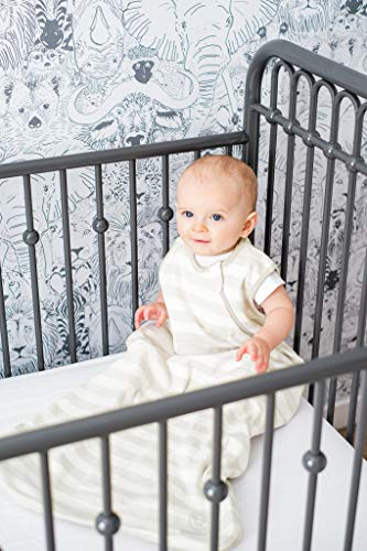 Ecolino Organic Cotton Baby Sleep Bag or Sack - Infant Sleeping Bag 6-18 Mo, Silver