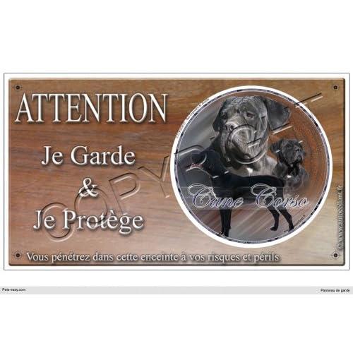 Panneau chien ou plaque Cane-Corso-Femelle 30 cm