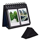 Sunmns Desk Table Calendar Style Photo Album for Fujifilm Instax Mini 7s 8 50s 70 90 26 9/ Polaroid Z2300 PIC-300P Snap Zip Films, Black