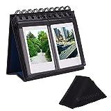 Sunmns Desk Table Calendar Style Photo Album for Fujifilm Instax Mini 7s 8 50s 70 90 26 9/ Polaroid Z2300 PIC-300P Snap Zip Films, Black (Back Color Random)