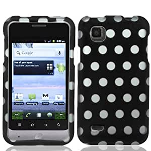 CY Graphic Design Cover Case For ZTE Illustra Z788G (Package Include a Cystore Stylus Pen) - Polka Dot Black/Silver