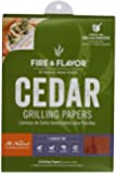Fire & Flavor Fire & Flavor 6 x 7.25 Inch Western Red Cedar Wraps (8 Papers), 2 Ounce Package by Fire and Flavor