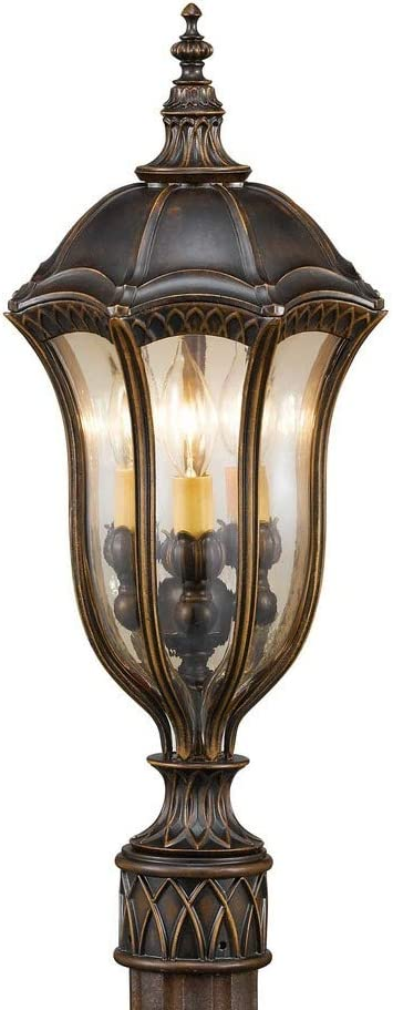 Feiss OL6007WAL Baton Rouge Outdoor Post Lighting, Brown, 3-Light (10