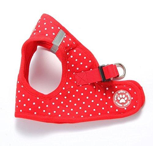 bingpet-bb5004-polka-dot-soft-vest-dog-puppy-pet-harness-adjustable-red