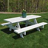 Dura-Trel Traditional White Picnic Table For Sale