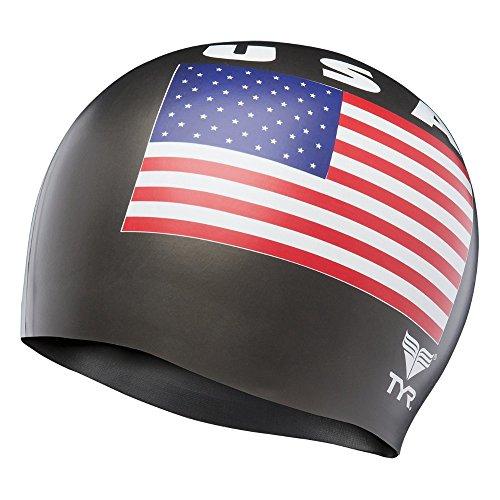 TYR USA Silicone Cap, Black ()