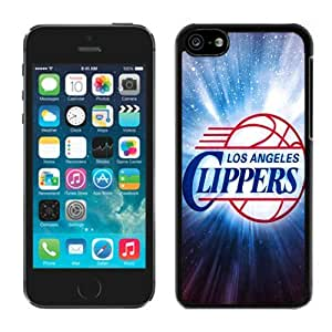 New Custom Design Cover Case For iPhone 5C Generation L.A. Clippers 3 Black Phone Case