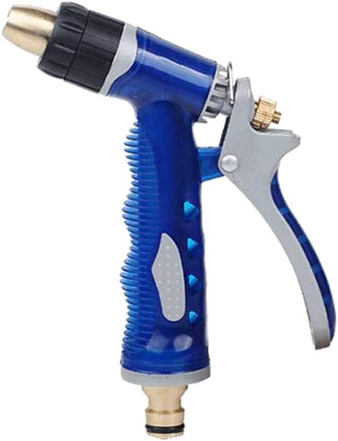 JIANFEI Lavado de Coches Pistola de Agua de Alta presión de Limpieza de Flujo de Agua de presión de neumáticos Lavadora de riego Herramienta de riego Spray de Columna de Agua (Color : Blue)