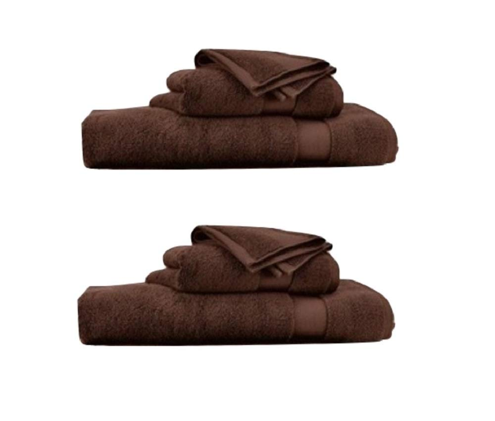 RALPH LAUREN Wescott 6 Piece Bath Towel Set - 100% Cotton, Artist Brown , 30 x 56 inches