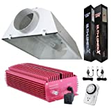 Ulti-Lumenx GLK1000CRHM 1000 Watt Grow Light Digital Dimmable HPS MH System for Plants XL Air Cool Hood Set – Upper Lever Ballast