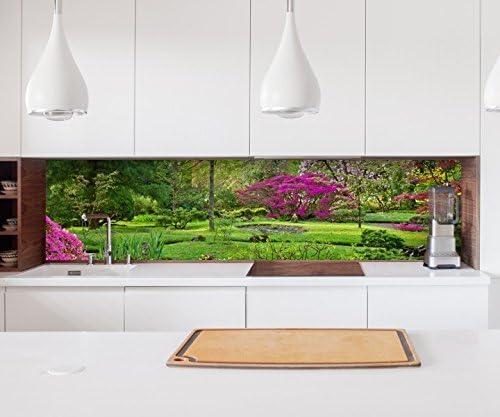 Adhesivo Pared de Cocina Japonés Jardín Zen Verde Lámina Autoadhesiva Lámina Decorativa Baldosas Lámina para Muebles Protección contra Salpicaduras 22A605-80cm x 300cm: Amazon.es: Hogar