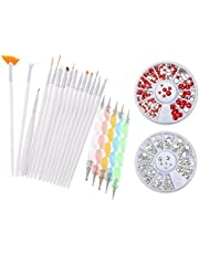 Yimart® Pack of 20,Nail Art and Gel Acrylic Drawing Painting Brush Set with Dotting Pen Tools (E) (Nail Art Brush D)