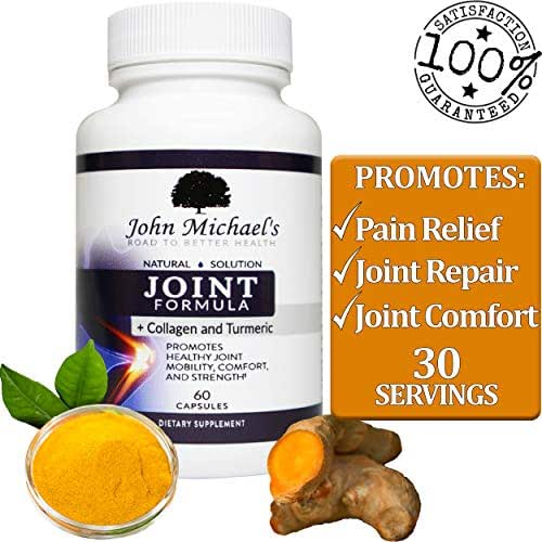 Joint Support, Turmeric Curcumin & Collagen Herbal Supplement w/Boswellia MSM Ginger Natural Anti-inflammatory, Pain Relief, Antioxidant Joint Formula