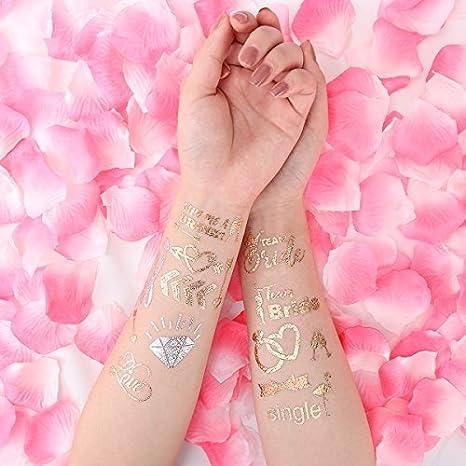 Unomor Tatuajes, Despedida de Soltera Fiesta Tatuajes, Novia Tribe Tatuajes, Bridal Shower Favor para Soltero Decoración - -- 56 Pack: Amazon.es: Juguetes y ...