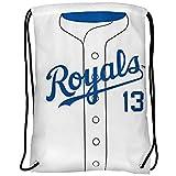 MLB Kansas City Royalsperez S. #13 Player Drawstring Backpack, Kansas City Royals, One Size