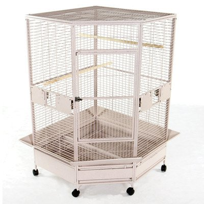 AandE CAGE CO Extra Large Corner Cage, Black, My Pet Supplies