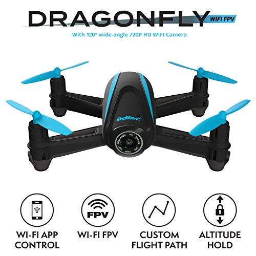 Force1 HD Drone with Camera – RC Camera Drones for Kids & Pros - U34W Dragonfly Drone with Camera Live Video, Altitude Hold & Wi-Fi FPV - Easy to Fly Quadcopter Drones for Beginners by Force1 (Image #1)