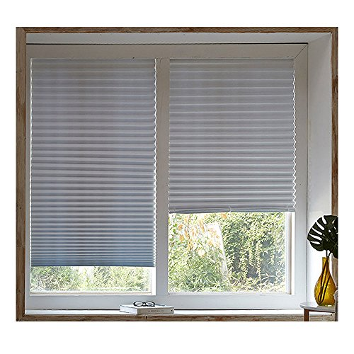 ToBe Sunshade Light Filtering Paper Self Pleated Blinds Shades Made in Korea White 35 x 94 inch 6Pack