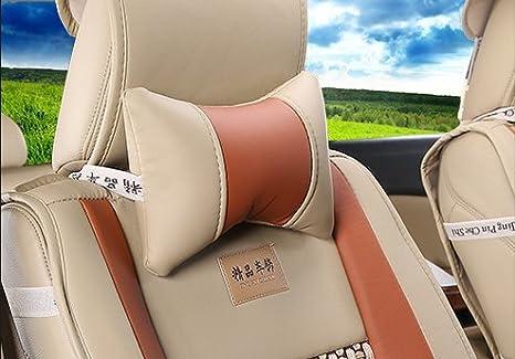 Amooca VTI Universal Front Rear Car Seat Cushion Cover Black/&Beige 10pcs Full Set Needlework PU leather MD-1157865