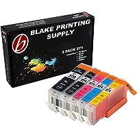 Blake Printing Supply ® 5 Pack Ink Cartridges for 270XL 271XL PIXMA MG5720 MG5721 MG5722 MG6820 MG6821 1 Small Black, 1 Cyan, 1 Magenta, 1 Yellow, 1 Big Black.