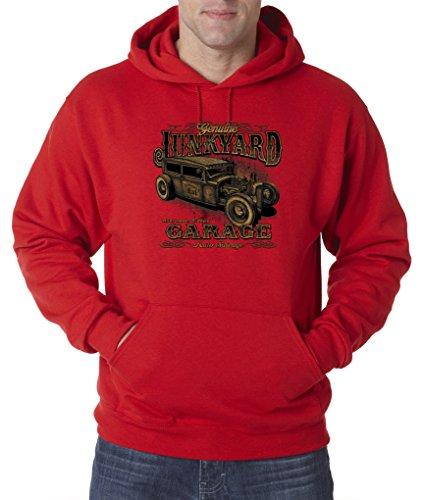 Genuine Junkyard Garage Auto Salvage Cars Trucks Pullover Hoodie S-3XL - Red - L