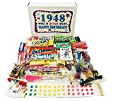 #3: Woodstock Candy 1948 70th Birthday Gift Box - Nostalgic Retro Candy Mix for 70 Year Old Man or Woman Jr