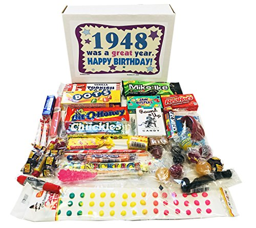 Woodstock Candy 1948 70th Birthday Gift Box - Nostalgic Retro Candy Mix for 70 Year Old Man or Woman Jr by Woodstock Candy