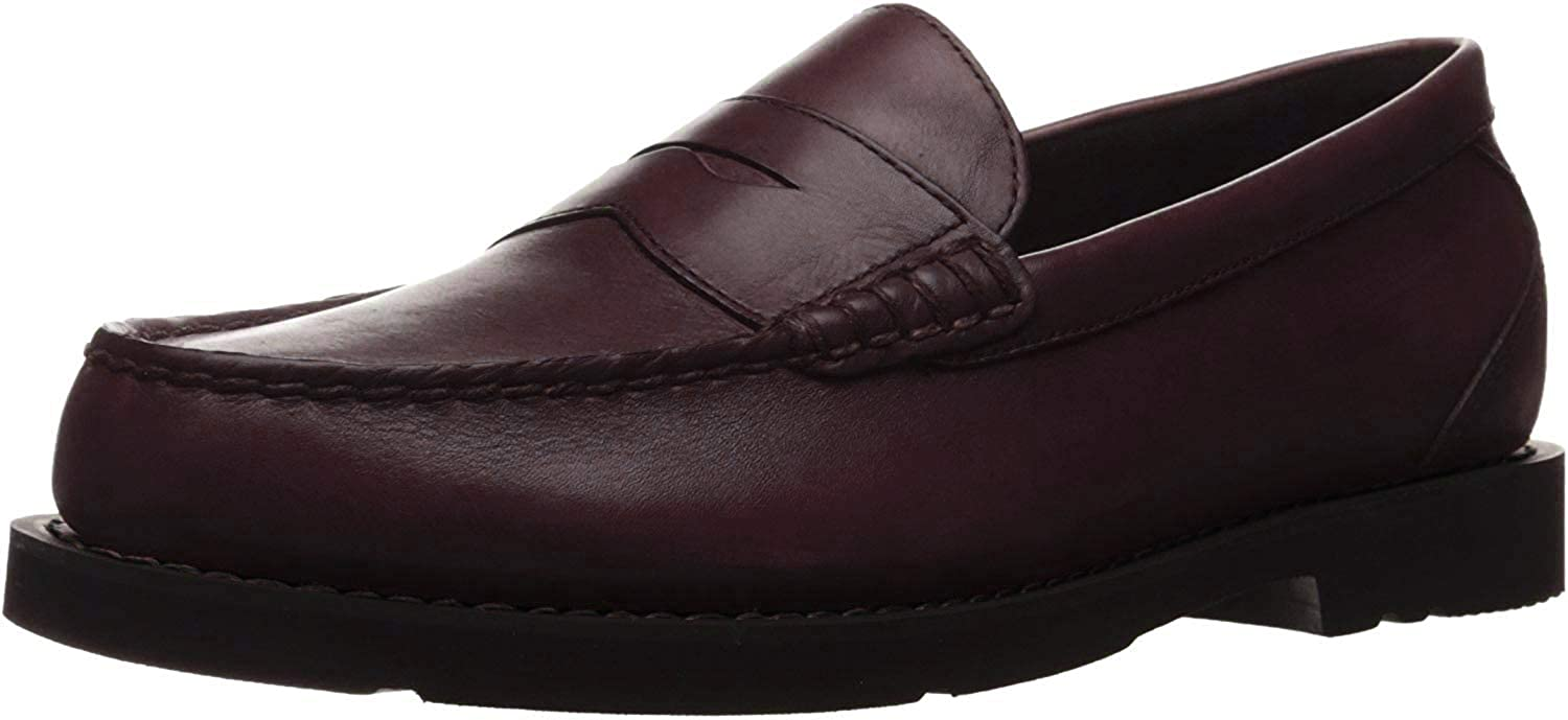 Rockport Shakespeare Circle Burgundy Brush Off, Mocasines para Hombre