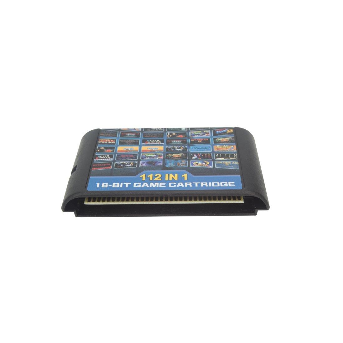 Focusexy 112 in 1 Game Cartridge 16 Bit MD Game Card for Sega Mega Drive for Sega Genesis
