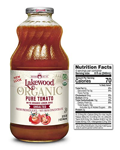 Lakewood Organic Super Tomato Juice, 32 Ounce (Pack of 6) (Tomato Organic Juice)