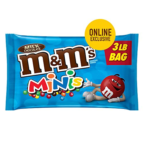 M&M'S Minis Milk Chocolate Candy 3-lb. Bulk Candy -