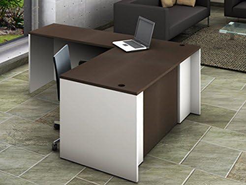 OfisLite Desk Model 2103 Complete Group, White/Espresso, 2 Piece ...