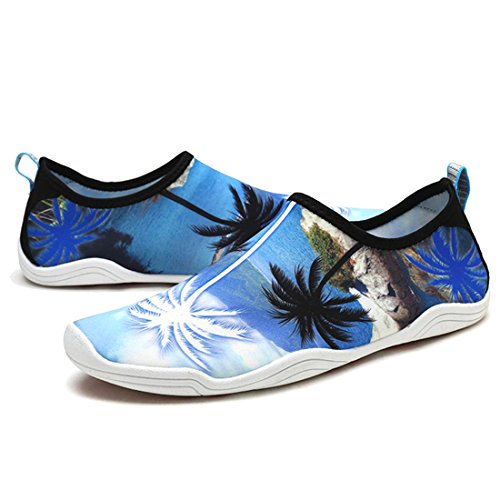 APTRO Men's Lightweight Beach Athletic Tree Swimming Aqua Blue Socks Kayaking and Water Cruise Palm Shoes s2 Women's Barefoot ZFFwrdqY